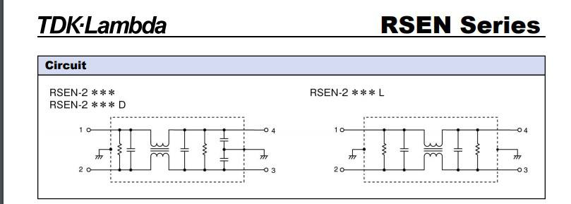 Bản vẽ RSEN-2020 , RSEN-2020D hãng TDK-Lambda Việt Nam