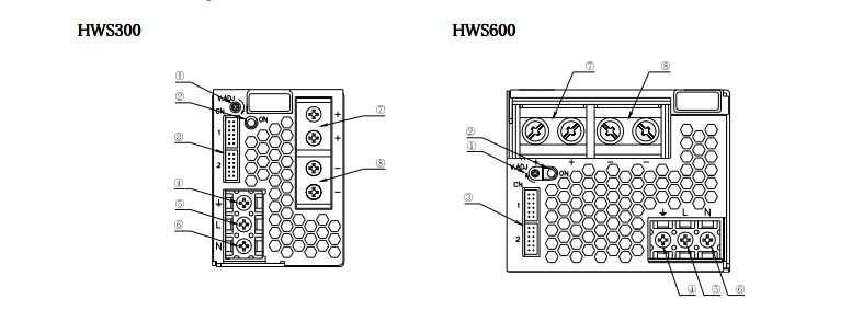Bản vẽ HWS300-24 và HWS600-24 hãng Tdk-lambda Việt Nam