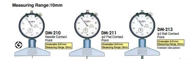 DM-210 Teclock, Đồng hồ đo độ sâu Teclock Viêt Nam